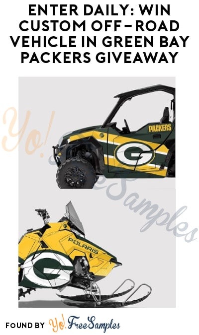 Enter Daily: Win Custom Off-Road Vehicle in Green Bay Packers Giveaway
