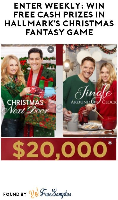 Enter Weekly: Win FREE Cash Prizes in Hallmark's Christmas Fantasy Game