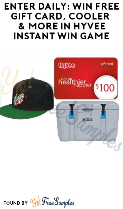 Enter Daily: Win FREE Gift Card, Cooler & More in Hyvee Instant Win Game (Select States Only)