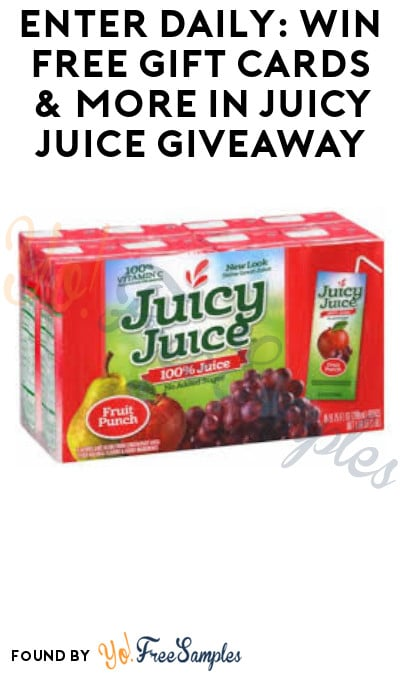 Enter Daily: Win FREE Gift Cards & More in Juicy Juice Giveaway