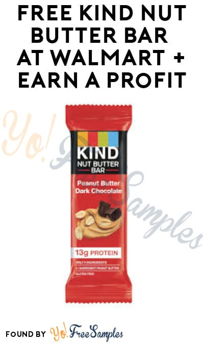 FREE Kind Nut Butter Bar at Walmart + Earn A Profit (Ibotta Required)
