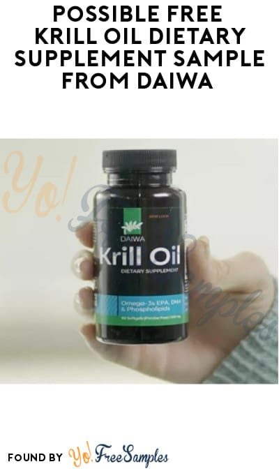 Possible FREE Krill Oil Dietary Supplement Sample from Daiwa (Facebook Required)