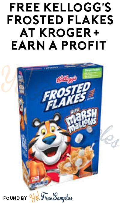 FREE Kellogg's Frosted Flakes at Kroger + Earn A Profit (Coupon & Ibotta Required)