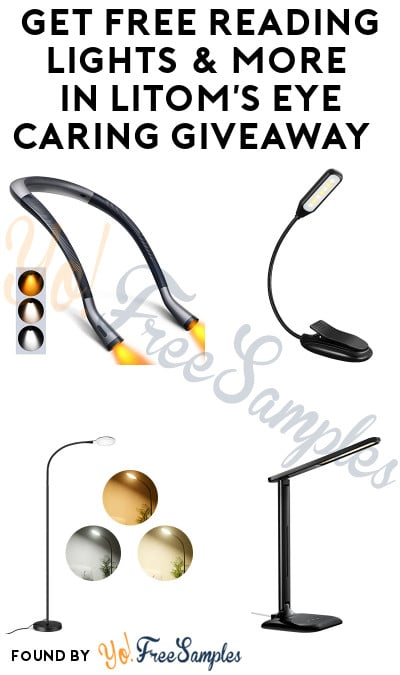 FREE Neck Reading Light, Reading Lamps & More in LITOM's Eye Caring Giveaway