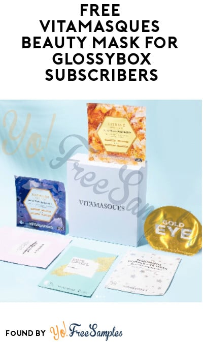 FREE Vitamasques Beauty Mask for Glossybox Subscribers