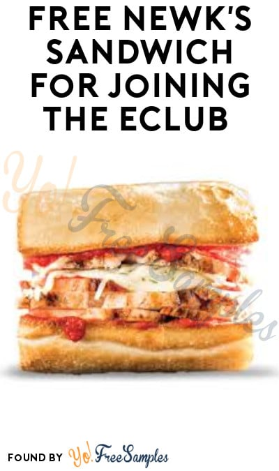 FREE Newk's Sandwich for Joining the eClub