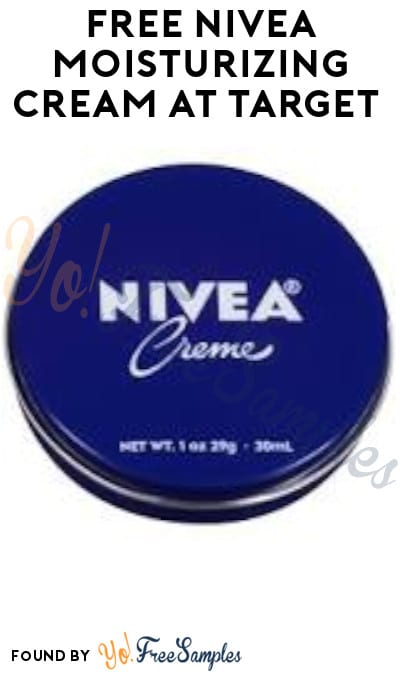 FREE Nivea Moisturizing Cream at Target (Target Circle Required + In Store Only)