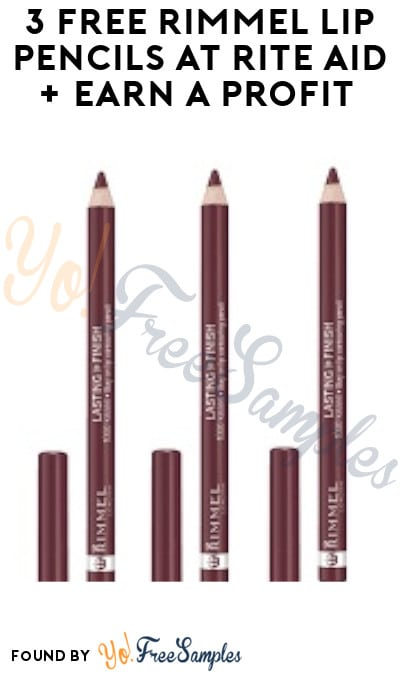 3 FREE Rimmel Lip Pencils at Rite Aid + Earn A Profit (Wellness+ Required)