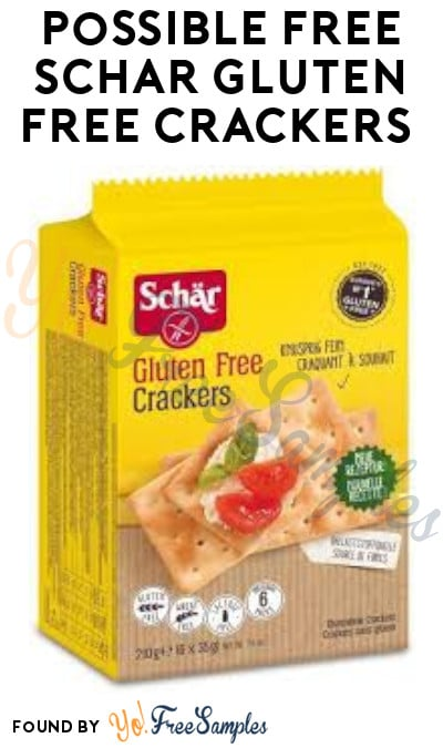 Possible FREE Schar Gluten-Free Crackers (Facebook Required)