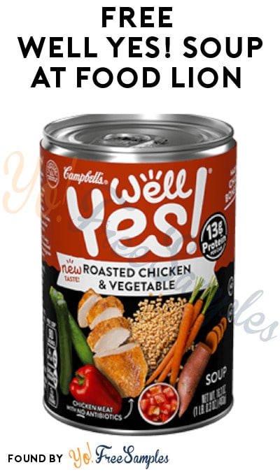 FREE Well Yes! Soup At Food Lion (Food Lion MVP Members)