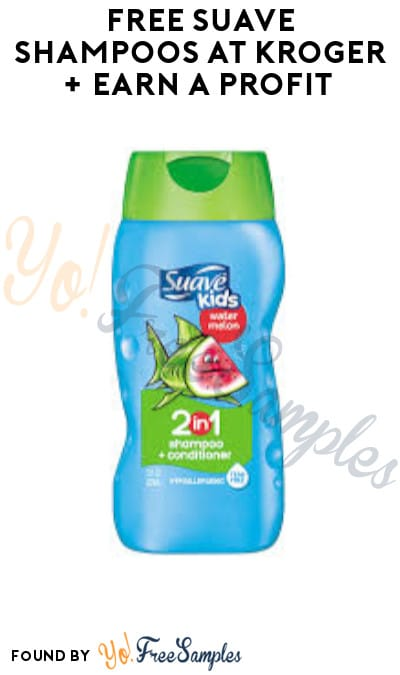 FREE Suave Shampoos at Kroger + Earn A Profit (Account/ Coupon & Ibotta Required)