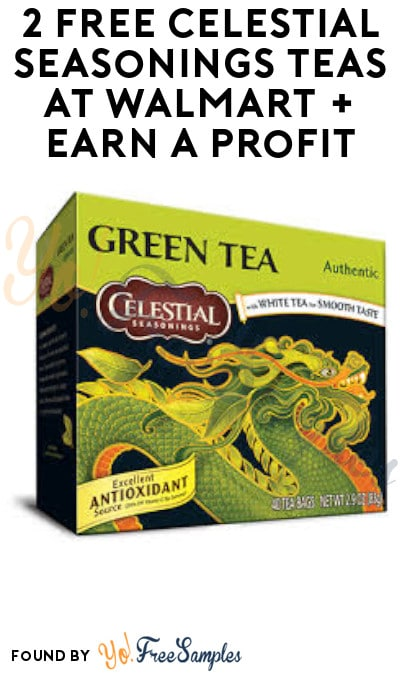 2 FREE Celestial Seasonings Teas at Walmart + Earn A Profit (Ibotta Required)