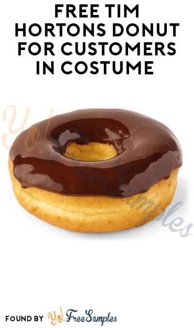 FREE Tim Hortons Donut for Customers in Costume (Drive-Thru Only)