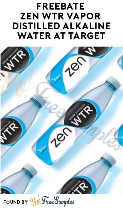 FREEBATE Zen WTR Vapor Distilled Alkaline Water at Target (Ibotta Required)