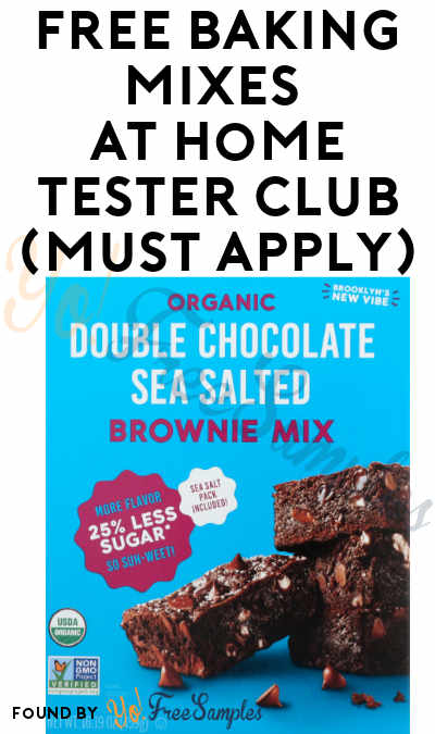 FREE Baking Mixes At Home Tester Club (Must Apply)