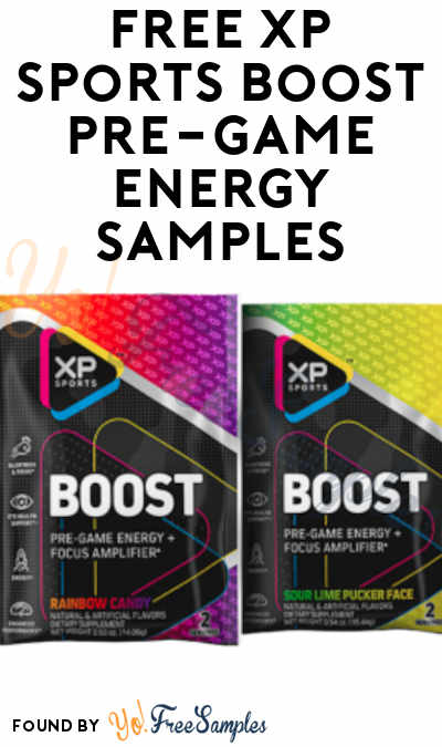 FREE XP Sports Boost Pre-Game Energy Samples