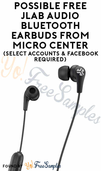 Possible FREE JLAB Audio Bluetooth Earbuds From Micro Center (Select Accounts & Facebook Required)