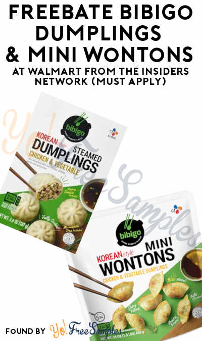FREEBATE Bibigo Dumplings & Mini Wontons At Walmart From The Insiders Network (Must Apply)