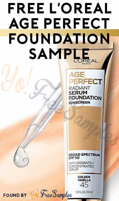 FREE L'Oreal Age Perfect Foundation Sample
