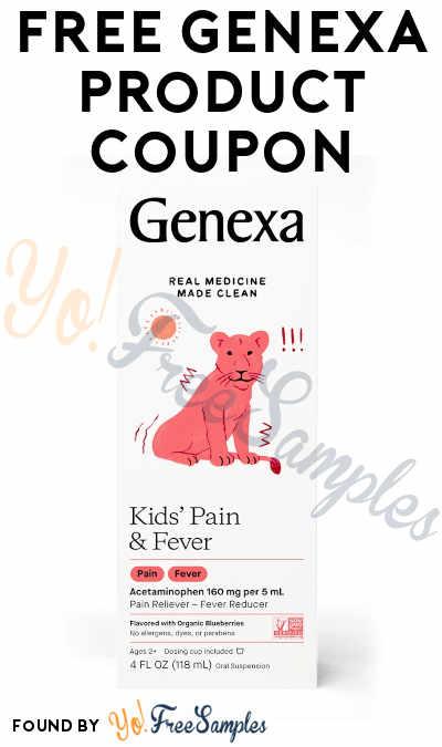 FREE Genexa Product Coupon