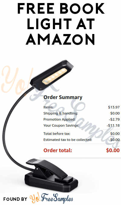 FREE Clip On Book Light At Amazon