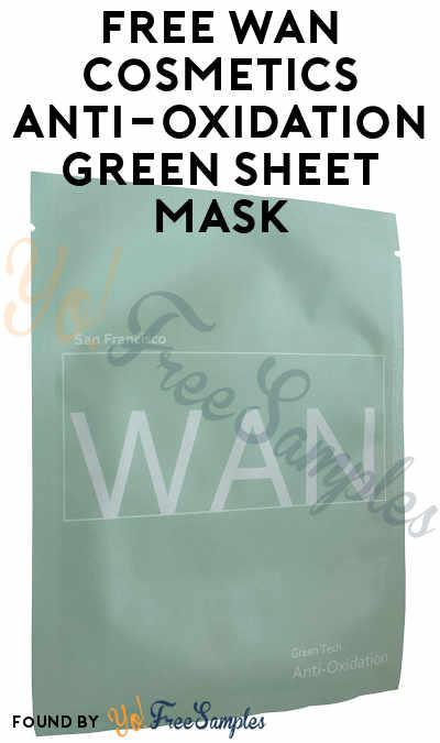 FREE WAN Cosmetics Anti-Oxidation Green Tech Sheet Mask