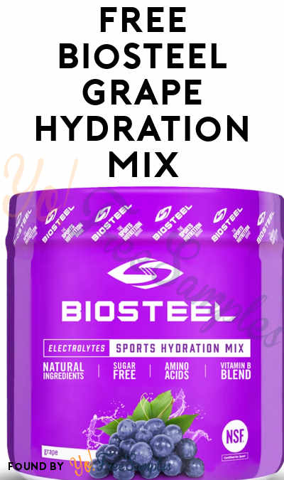 FREE BioSteel Grape Hydration Mix