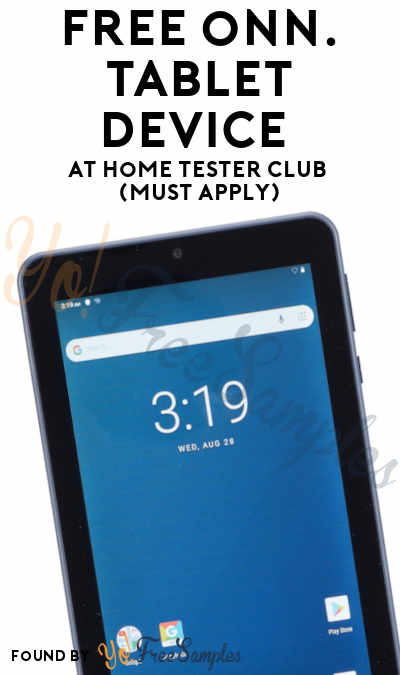 FREE onn. Tablet Device At Home Tester Club (Must Apply)