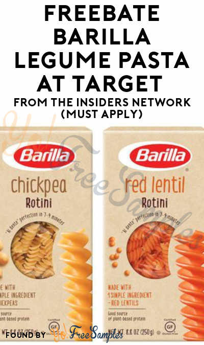 FREEBATE Barilla Legume Pasta At Target From The Insiders Network (Must Apply)
