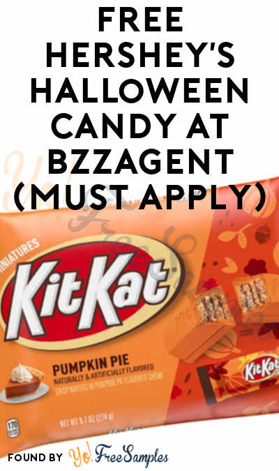 FREE Hershey's Halloween Candy At BzzAgent (Must Apply)