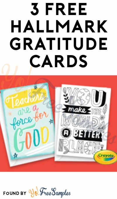 3 FREE Hallmark Gratitude Cards