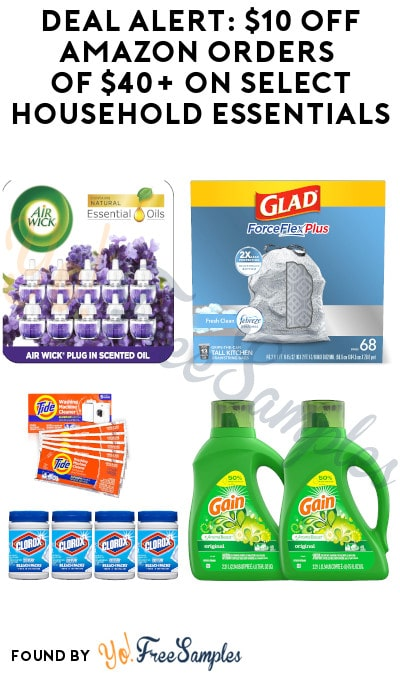 DEAL ALERT: $10 Off Amazon Orders of $40+ on Select Household Essentials