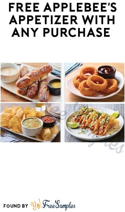 FREE Applebee's Appetizer With Any Purchase (Code Required + App/Online Only)