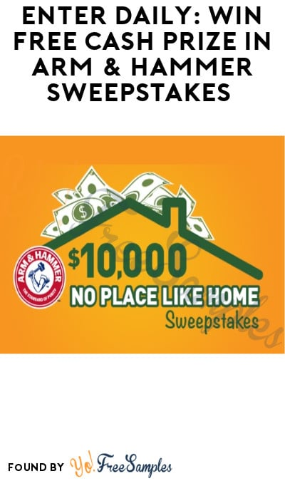 Enter Daily: Win FREE Cash Prize in Arm & Hammer Sweepstakes