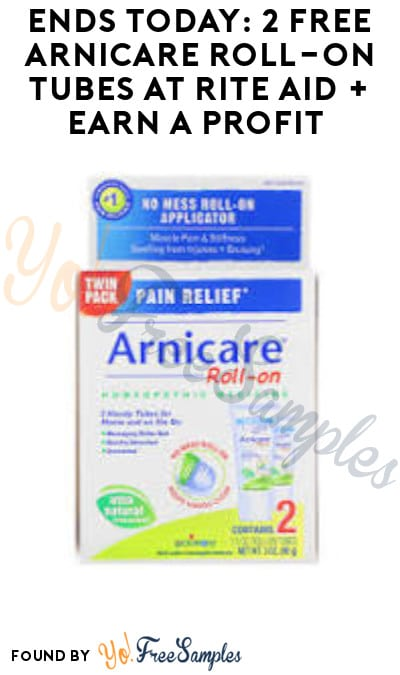 Ends Today: 2 FREE Arnicare Roll-On Tubes at Rite Aid + Earn A Profit (Ibotta & Wellness+ Required)