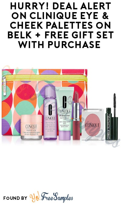 Hurry! DEAL ALERT on Clinique Eye & Cheek Palettes on Belk + FREE Gift Set with Purchase (Code Required)