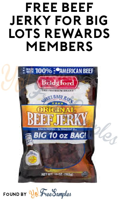 FREE Beef Jerky for Big Lots Rewards Members