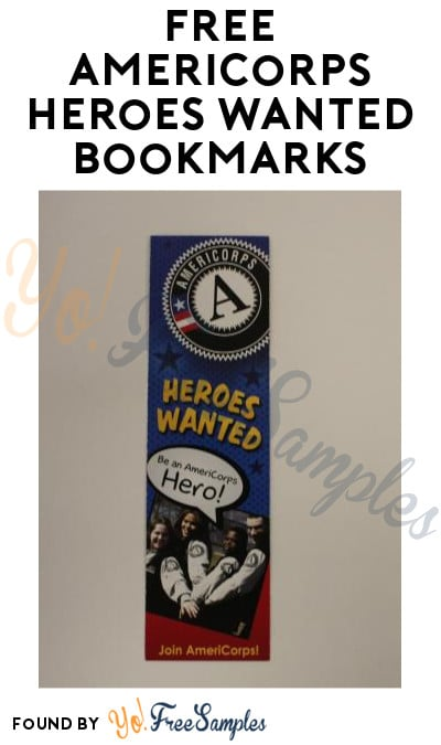 FREE AmeriCorps Heroes Wanted Bookmarks