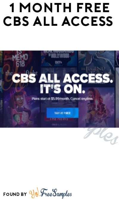 1 Month FREE CBS All Access (Credit Card + Code Required)