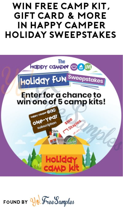Win FREE Camp Kit, Gift Card & More in Happy Camper Holiday Sweepstakes