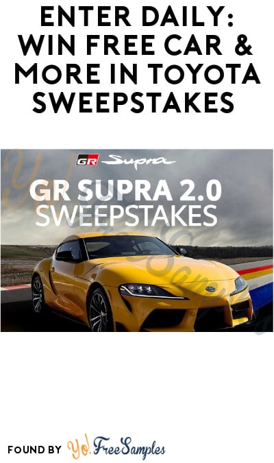 Enter Daily: Win FREE Car & More in Toyota Sweepstakes