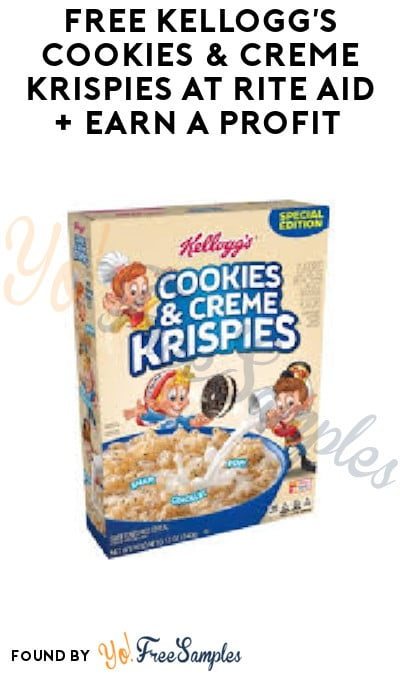 FREE Kellogg's Cookies & Creme Krispies at Rite Aid + Earn A Profit (Account, Coupons & Ibotta Required)