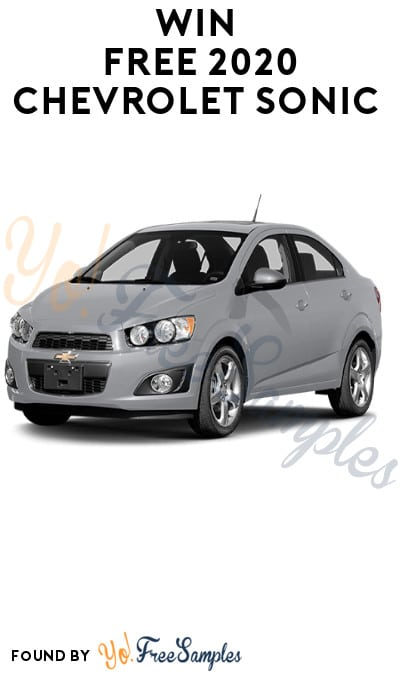 Win FREE 2020 Chevrolet Sonic (Photo + Essay Required)