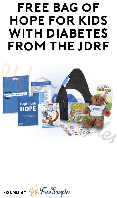 FREE Bag of Hope for Kids with Diabetes from The JDRF