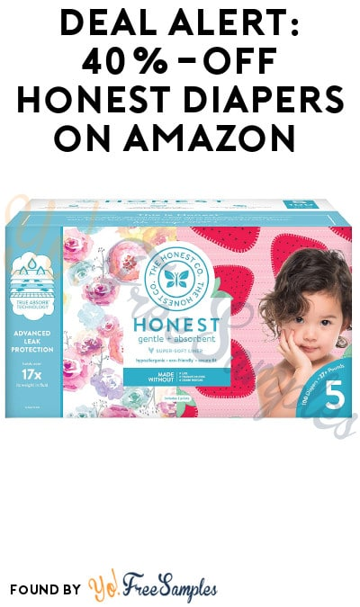 DEAL ALERT: 40% Off Honest Diapers on Amazon with Clipped Coupon