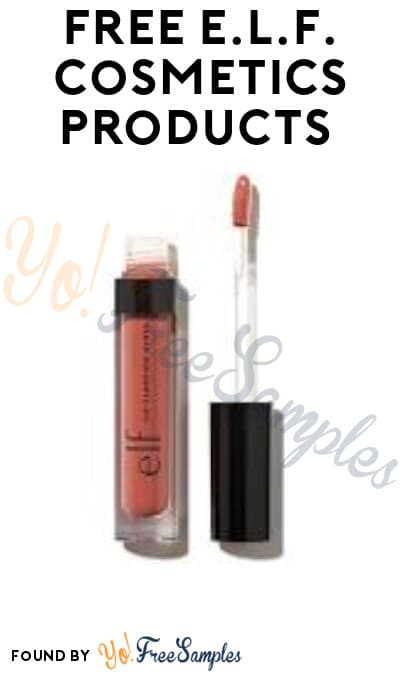 FREE e.l.f. Cosmetics Products (Signup Required)
