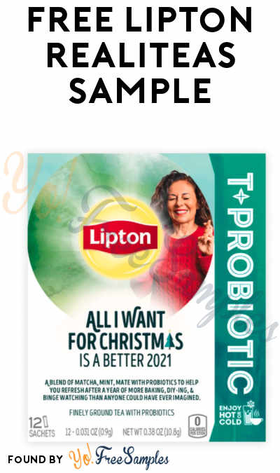 Back! FREE Lipton RealiTEAS Sample Of Your Choice