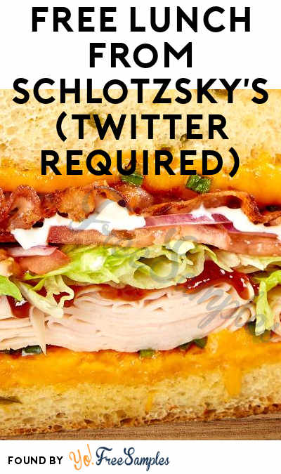 FREE Lunch from Schlotzsky's (Twitter Required)