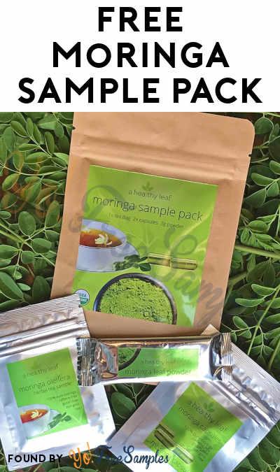 FREE Moringa Sample Pack