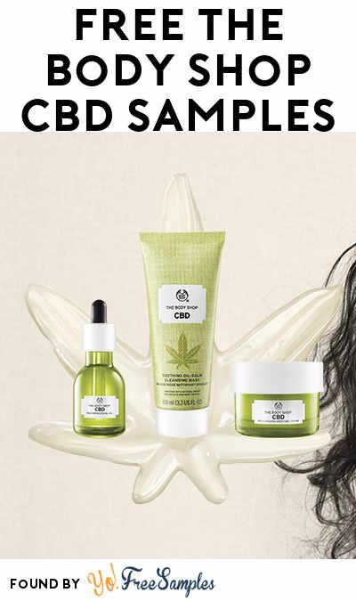 FREE The Body Shop CBD Samples